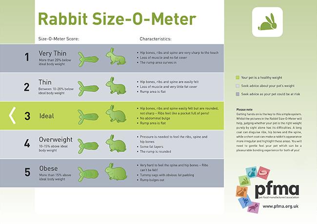 Figure 1. The Pet Food Manufacturers' Association's Rabbit Size-O-Meter.